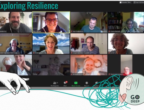 Go Deepers met online to play Resilience line